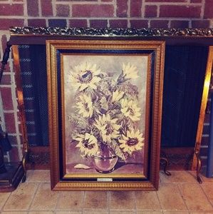 Sunflowers by L. Ritter Print Home Interiors Vinta
